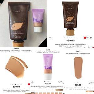 tarte Makeup - New Tarte Amazonian Clay + Tinted Moisturizer 35N